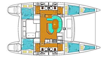 catamaran Lagoon410 plan