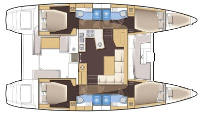 Catamaran Lagoon450 S plan
