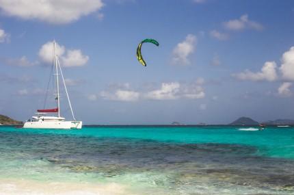 croisière kite surf aux Grenadines aux Antilles